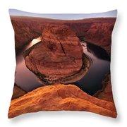 Dramatic River Bend Throw Pillow