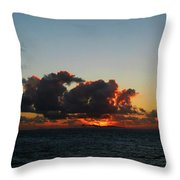 Dramatic Sea Sky At Dawn Throw Pillow