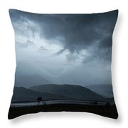 Dramatic Sky Over Silhouettes Throw Pillow