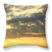 Dramatic Sunglow Throw Pillow