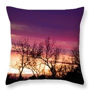 Dramatic Sunrise-l Throw Pillow