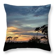 Dramatic Sunset In The Cove Throw Pillow
