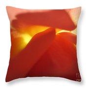 Glowing Orange Rose 2 Throw Pillow