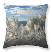 Draped In Icy Beauty Throw Pillow