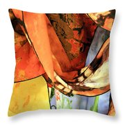 Draped Scarves Throw Pillow