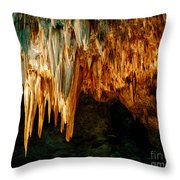 Draperies And Stalactites Throw Pillow
