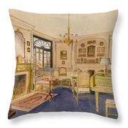 Drawing Room Adam Revival Style Throw Pillow