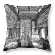 Drawing-room Car, 1869 Throw Pillow