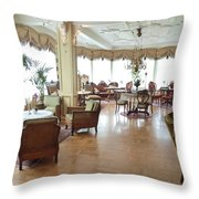 Drawing Room Of Union Oye Throw Pillow