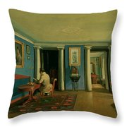 Drawing Room With Columned Entresol  Throw Pillow
