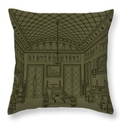 Drawing Room With Egyptian Decoration Throw Pillow
