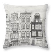 Drawn To Amsterdam Throw Pillow