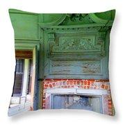 Drayton Fireplace 2 Throw Pillow