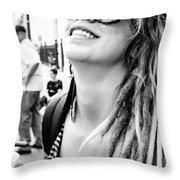 Dreadfully Happy In Nola Throw Pillow