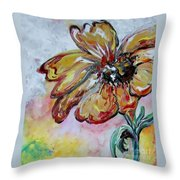 Dream Flower That Suits My Fancy Throw Pillow