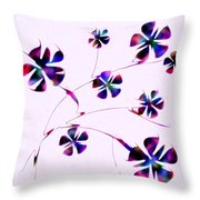 Dream Flowers Throw Pillow