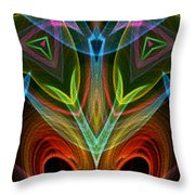 I Dream Flowers Throw Pillow