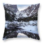 Dream Lake Reflection Throw Pillow