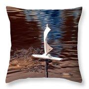 Dream Of Sailing Throw Pillow