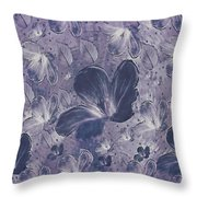 Dream On In Purple Throw Pillow