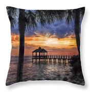 Dream Pier Throw Pillow