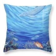 Dream Reef Throw Pillow