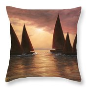 Dream Sails Throw Pillow