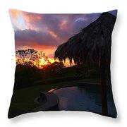 Dream Sunset In Costa Rica Throw Pillow