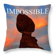 Dream The Impossible Card Poster Two Throw Pillow