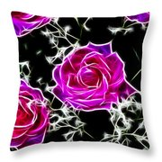 Dream With Roses Throw Pillow