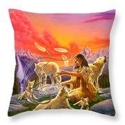 Dreamcatcher 8 Throw Pillow