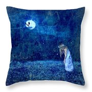 Dreaming In Blue Throw Pillow by Rhonda Barrett