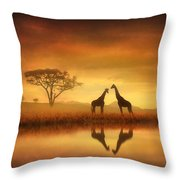 Dreaming Of Africa Throw Pillow
