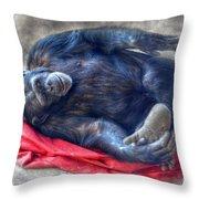 Dreaming Of Bananas Chimpanzee Throw Pillow
