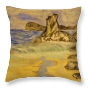Dreaming Of Beaches Throw Pillow