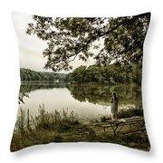 Dreaming Of Fishing At Argyle Lake Throw Pillow