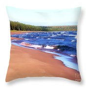 Dreaming Of Lake Superior Throw Pillow