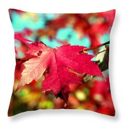 Dreaming Of Maple Jewels Throw Pillow