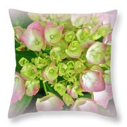 Dreaming Of Pink Hydrangeas Throw Pillow
