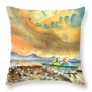 Dreaming Of Sailing In Lanzarote Throw Pillow