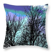 Dreaming Of Spring Through Icy Trees Throw Pillow