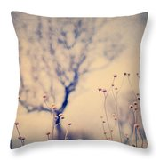 Dreaming Tree. Vintage Throw Pillow