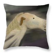 Painted Ponies Go Round Throw Pillow
