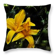 Dreams Of A Day Lily Throw Pillow
