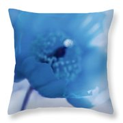 Dreams Of Blue Poppy Flower Throw Pillow