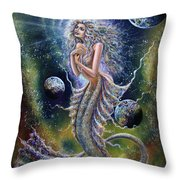 Dreams Of Mermaid Throw Pillow