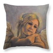 Dreamy Angel Throw Pillow
