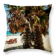 Dreamy Beach Sri Lanka Throw Pillow