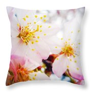 Dreamy Blossom Throw Pillow