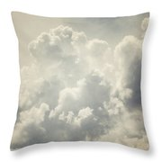 Dreamy Clouds In Shades Of Grey And Slate Blue Throw Pillow